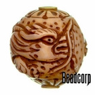 29x27mm Bone Focal Bead (Dragon)