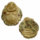 33x28mm Bone Focal Bead (Buddha)