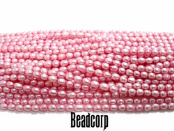 "4-5mm Pink Fresh Water Pearls - 15"" strand"