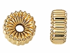 4.5x10mm Gold Filled Corrugated Roundel Beads 14/20kt.