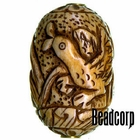 42x27mm Bone Focal Bead (Ducks)