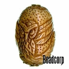 42x27mm Bone Focal Bead (Owl)
