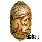 42x27mm Bone Focal Bead (Rabbit)