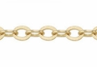 5.5x4mm Gold Filled Heavy Oval Flat Cable Chain ** sold per foot