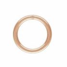 5mm Rose Gold Filled Closed Jump Rings 22 ga.14/20kt. (25 pcs.)