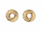 6.75mm gold filled twisted saucers each