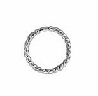 7mm Sterling Silver 20.5ga Twisted Jump Rings Closed