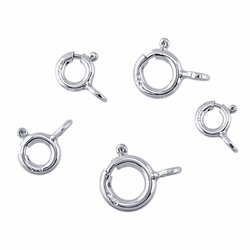 7mm Sterling Silver Spring Ring Clasp