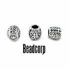 "8x9mm European, Pandora Type Bead Stopper  ""Relic Barrel"""