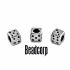 "9x9mm European, Pandora Type Bead Stopper  ""Dice"""