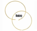 Bead Hoops -- Gold Filled