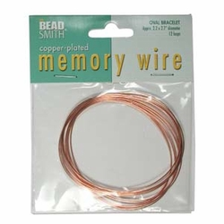 Copper Memory Wire Bracelet 12 turns