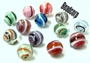 Czech Solid Swirl Beads