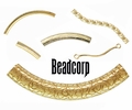 Gold Filled Curved Tube Beads