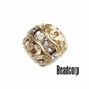 Gold Plated Czech Rhinestone Beads