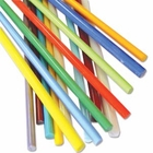Opaque Multi-Color Glass Rods 15 pcs.