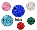 Pave Crystal Ball Beads (Shamballa)