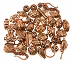 Pure Copper Bali Beads - Mix - 50 grams