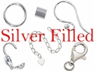 Silver Filled Beads, Clasp, & Findings