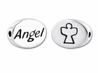 Sterling Silver Message Bead - Angel