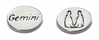 Sterling Silver Message Bead - Gemini