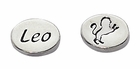 Sterling Silver Message Bead - Leo