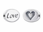 Sterling Silver Message Bead - Love