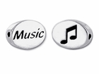 Sterling Silver Message Bead - Music