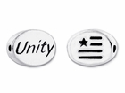 Sterling Silver Message Bead - Unity