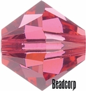 Swarovski 5301 / 5328 Bicone Beads - Indian Pink