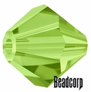 Swarovski 5301 / 5328 Bicone Beads - Olivine Light