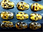 Tiger Eye Skull Cabochon 16X24mm