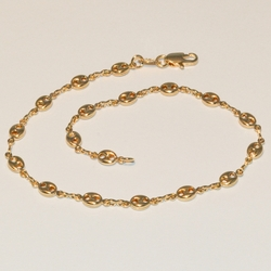 1-0003-e3 Puffed Gucci Link Anklet