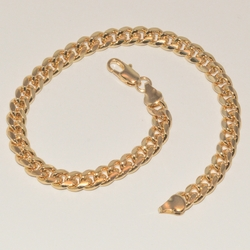 1-0009-e1 Gold Plated Curblink Anklet