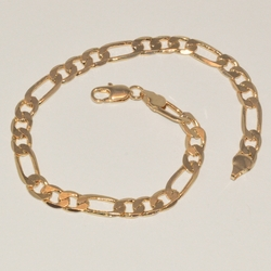 1-0016-e1 Gold Plated Figaro Anklet