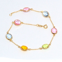 1-0025-D1 Multicolored Anklet