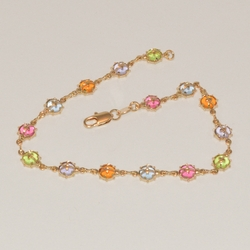 1-0029-e1 Multicolor Lady Bug anklet