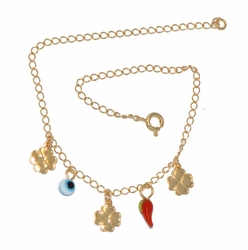 1-0058-D1 Lucky Charms Anklet