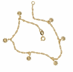 1-0061-D1 Sun Charms Anklet