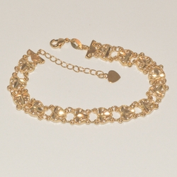 1-0460-e1 Fancy Heart Link Bracelet