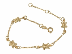 1-0467-D1 Ladies Turtle charm Bracelet