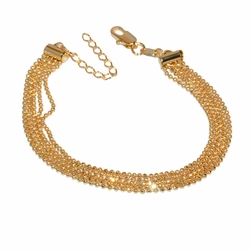 1-0488-e12 Gold Filled Flashy Bracelet