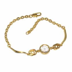 1-0630-D1 *Gold Plated Bracelet with Stone