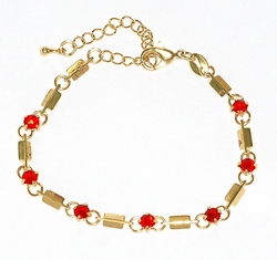 1-0637-D1 Crystal Studed Bracelet