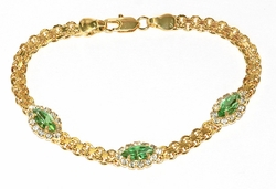 1-0652-D1 Crystal Studed Bismark Bracelet