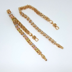 1-0666-1-f5 Gold Layered CZ Bracelet
