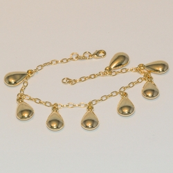 1-0694-e1 Tear Drop charms Bracelet 7.5""