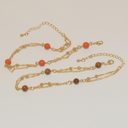1-0599-e1 Beaded Bracelet / Anklet