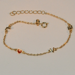 "1-0780-e6 Thin Love Bracelet. 7""-8"" adjustable length."