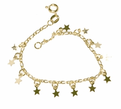 1-0792-D1 Girls Star Charms Bracelet